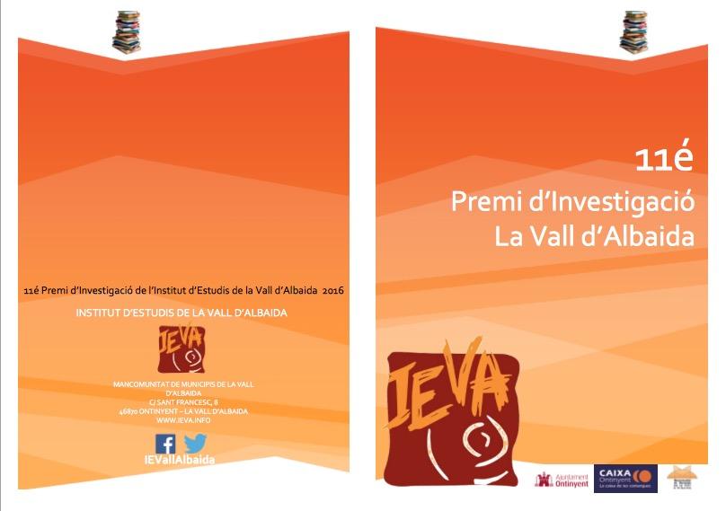Premi Investigació la Vall d'Albaida